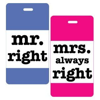 Mr & Mrs Right 2pc Luggage Tag Set Clothing