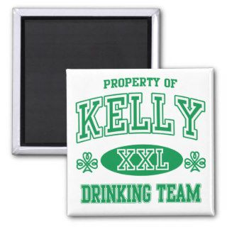Kelly Irish Drinking Team Fridge Magnet