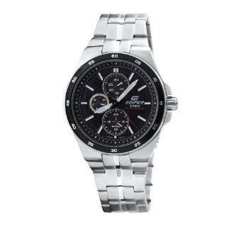 Casio Men's EF340SB 1A1 Edifice Stainless Steel Solar Power Chronograph Sport Watch Casio Watches