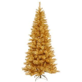12' Pre Lit Gold Glitter Mixed Pine Cashmere Christmas Tree   Clear Lights   Artificial Christmas Trees