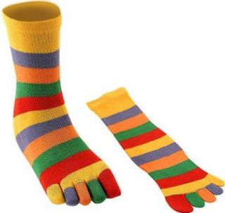 Adult Multi Colored Toe Socks Novelty Socks Clothing