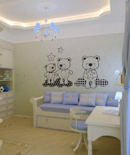Vinyl Wall Decal Sticker Teddy Bears in the Sky OS_DC348m   Wall Decor Stickers