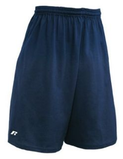 Russell Athletic Men's Pro Cotton Jersey Pocket Short, Navy, Large at  Men�s Clothing store