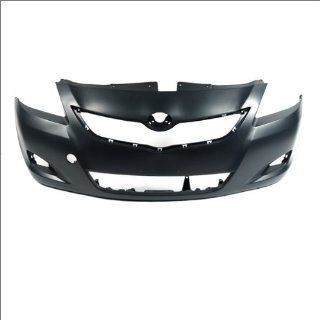 CarPartsDepot, 4 Door Front Bumper Cover Primed Black Plastic Assembly w/Fog Hole, 352 44813 10 PM TO1000321 5211952934?? Automotive