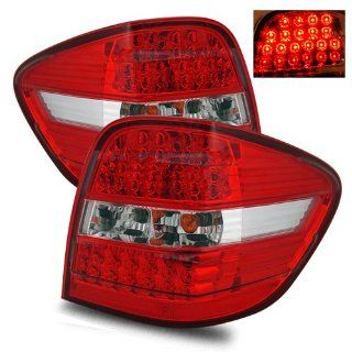 Mercedes Benz ML350 Red Clear LED Tail Lights   Fits All Automotive