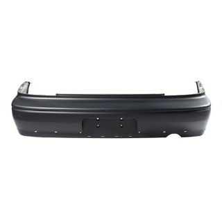 CarPartsDepot, Primed Black Rear Bumper Cover Replacement New W/Spoiler Hole, 352 35767 20 MI1100261 MR972553 Automotive