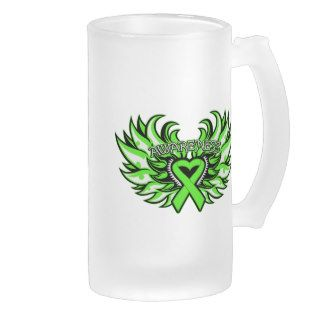 Non Hodgkin's Lymphoma Awareness Heart Wings.png Coffee Mug