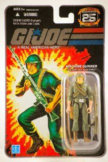 G.I. Joe   2007   Hasbro   25th Anniversary   Machine Gunner   Code Name SSGT. Rock 'N Roll Action Figure   w/ Base & Accessories   New   Limited Edition   Collectible Toys & Games