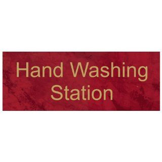 Hand Washing Station Engraved Sign EGRE 368 GLDonPTWN Hand Washing  Business And Store Signs