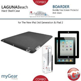 myGear Products LagunaBeach PC Case, PerfectPoint Plus Stylus, & Boarder Anti Glare Bubble Free Screen Protector Combo Pack for The New iPad 3 3rd Generation & iPad 2 Computers & Accessories