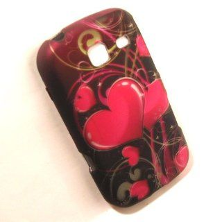 Samsung SCH S380c S380c Hard Pink Black Green Twin Heart Fusion Case Skin Cover Mobile Phone Accessory Cell Phones & Accessories