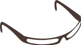 80s Sunglasses Removable Wall Sticker, Brown, L   Artwork