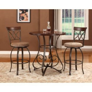 Powell Hamilton Pub Table   Brown (Set of 3)