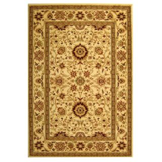 Lyndhurst Collection Majestic Ivory/ Ivory Oriental Rug (53 X 76)