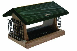 Birds Choice 5 qt. 2 Sided Hopper with Green Roof and Suet Baskets  Suet Bird Feeders  Patio, Lawn & Garden