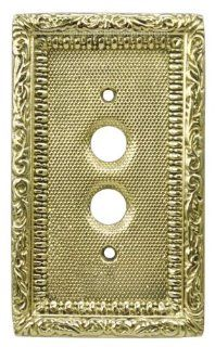 Victorian Single Gang Push Button Switchplate Cover   Electrical Outlet Covers