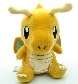 "6.5"" Rare Dragonite Cute Pokemon Plush Toy Nintendo Doll Children for Kids Gift Toys & Games"