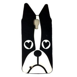 Minidandan Cute Cartoon Animal Dog Soft Silicone Skin Case Cover Compatible for Samsung Galaxy S4 I9500(black) Cell Phones & Accessories