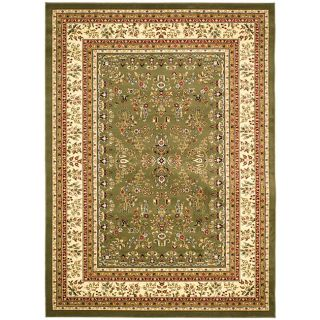 Lyndhurst Collection Oriental Sage/ivory Rug (53 X 76)