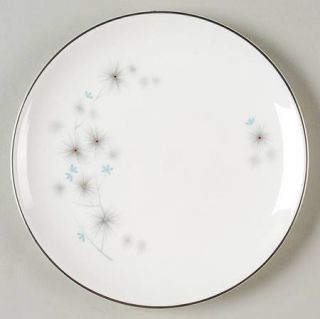 Royal Doulton Thistledown Bread & Butter Plate, Fine China Dinnerware   Blue Flo