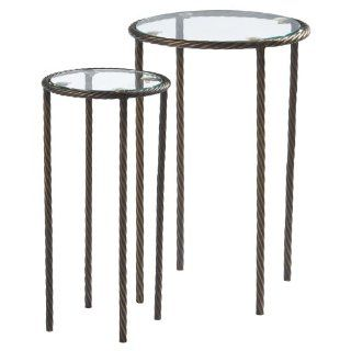 Midwest CBK Metal Rope Glass Top Table, Set of 2   End Tables