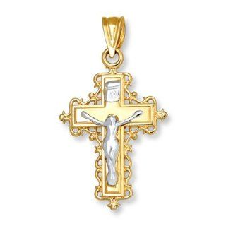 Kay Jewelers Crucifix Charm 14K Two Tone Gold Jewelry Products Jewelry