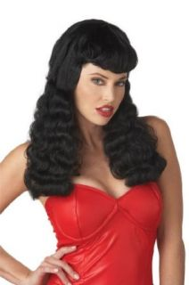 California Costumes Women's Bettie Page Wig,Black,One Size Clothing