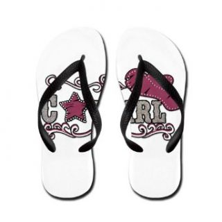 Artsmith, Inc. Women's Flip Flops (Sandals) Cowgirl Country Western Hat and Star Costume Footwear Clothing