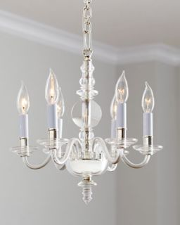 George II Polished Silver Mini Chandelier