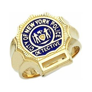 Men's 10k Yellow Gold New York City Detective Ring Jewelry