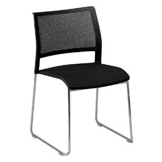 KI Furniture AllPurpose Poly Back and Mesh Seat Stack Chair