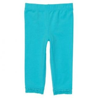 Carters Girls 4 6X Capri Leggings in Assorted Colors (5, Blue) Clothing