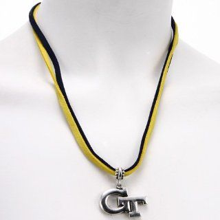 NCAA Georgia Tech Yellow Jackets Double Cord Necklace  Sports Fan Necklaces  Sports & Outdoors