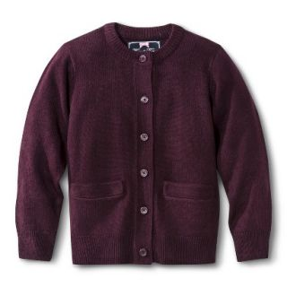 French Toast Girls School Uniform Knit Cardigan Sweater   Burgundy 12