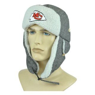 NFL Kansas City Chiefs Trooper Bomber Hat Trapper Earflap Winter Faux Fur Knit  Sports Fan Beanies  Sports & Outdoors