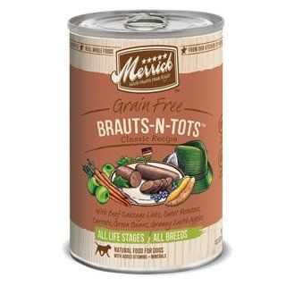 Merrick Grain Free Brauts n Tots Classic Recipe Canned Dog Food  Canned Wet Pet Food