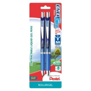 Pentel Energel Deluxe Medium Blue Retractable Li
