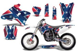 Rebel AMRRACING MX Graphics decal kit fits Yamaha YZ 250/400/426 (1998 2002) Red White Blue Automotive