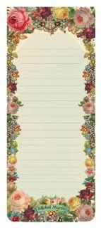 Michal Negrin Victorian Notepads / Shopping Lists Board with Refrigerator Magnets on the Back Kitchen & Dining