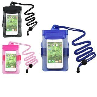 CommonByte 3x Waterproof Armband Bag Pouch Case For iPhone 3G 3GS Accessory Blue Black Pink Cell Phones & Accessories