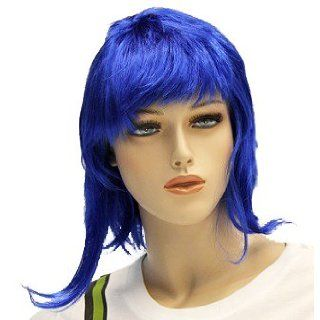 Scott Pilgrim Vs. The World Ramona Flowers Costume Wig (Blue) Accessories Clothing