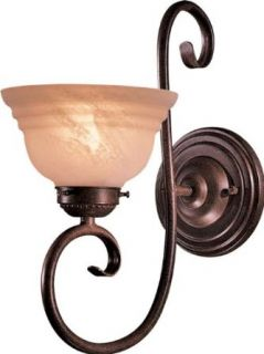 Minka Lavery 448 91 Aegean 1 Light Bath Vanity Light in Antique Bronze with Etched Marble glass   Vanity Lighting Fixtures