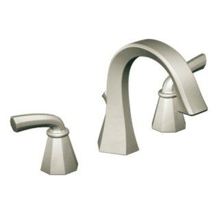 Moen TS448BN Felicity Two Handle High Arc Bathroom Faucet, Brushed Nickel   Touch On Bathroom Sink Faucets