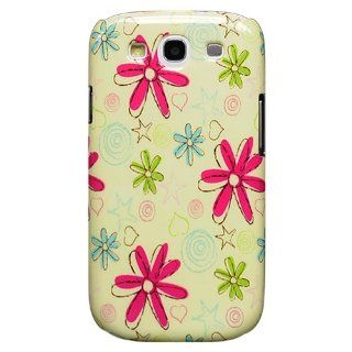Bfun Cartoon Flower Hard Cover Case For Samsung Galaxy S3 i9300 Cell Phones & Accessories