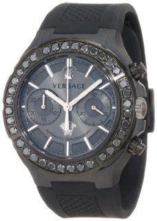 Versace Men's 26CCS76D455 S009 DV One Automatic Black Ceramic Chronograph Unisex Watch Watches