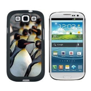 Penguins   Snap On Hard Protective Case for Samsung Galaxy S3   Black Cell Phones & Accessories