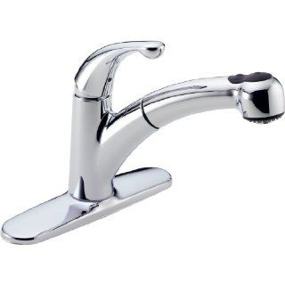 Delta 467 DST Palo Single Handle Pull Out Kitchen Faucet, Chrome   Touch On Kitchen Sink Faucets