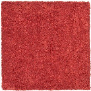 Safavieh Shag Collection SG151 4040 Red Shag Square Area Rug, 6 Feet 7 Inch Square