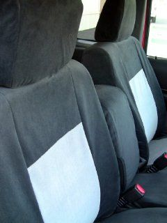 Exact Seat Covers, F473 V1/V7, 2010 2011 Ford Ranger 60/40 Split Seat Custom Exact Fit Seat Covers, Black and Gray Velour Automotive