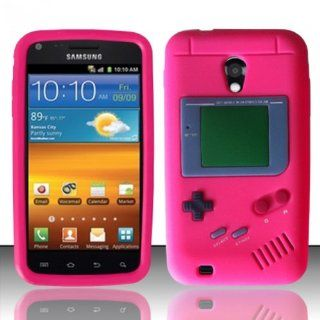 Pink Game Boy Silicone Case Cover for Samsung Galaxy S2 Epic Touch D710 + Pen Stylus Cell Phones & Accessories